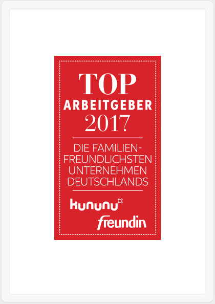 Eines der familienfreundlichsten Unternehmen Deutschlands