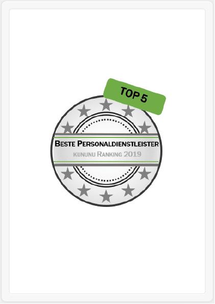 Bester Personaldienstleister: TOP 5 in Deutschland!
