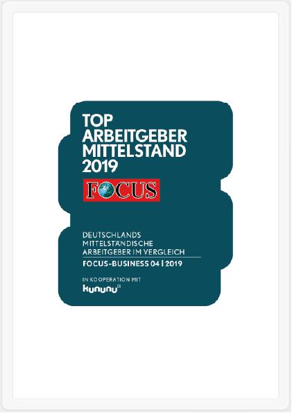 """""""Top Arbeitgeber Mittelstand 2020"""": TOP 10 bei über 900.000 Unternehmen in der DACH-Region!"""