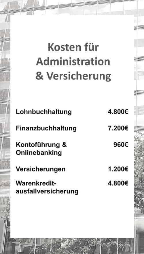 Kosten für Administration